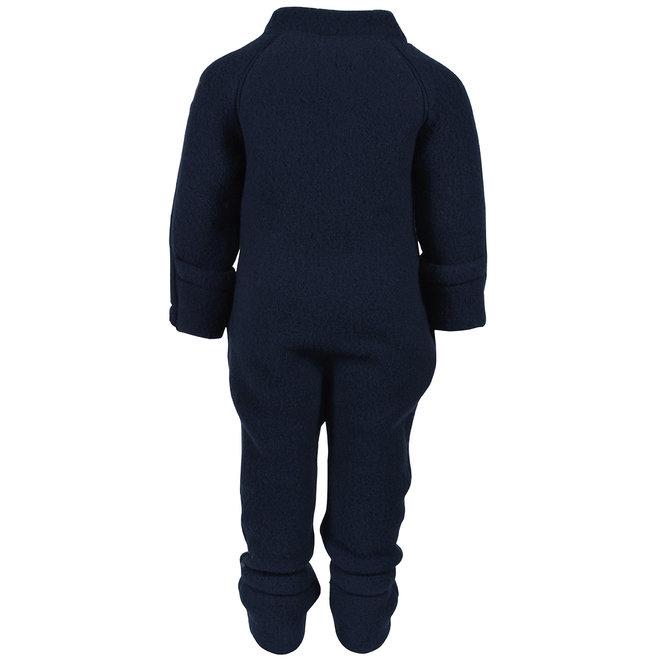 Wollen jumpsuit kinderen   merinowol - donkerblauw