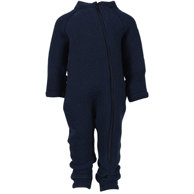 Wollen jumpsuit kind   navyblauw   maat 56-104
