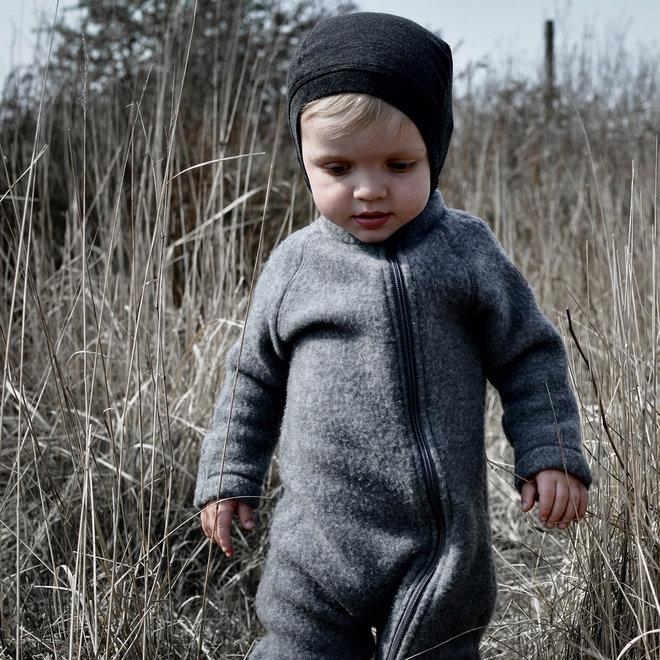 Wollen jumpsuit kind | grijs  | maat 56-104