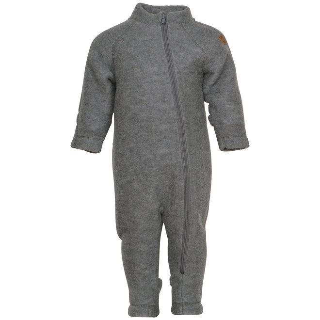Wollen jumpsuit | merinowol - Melange Grey