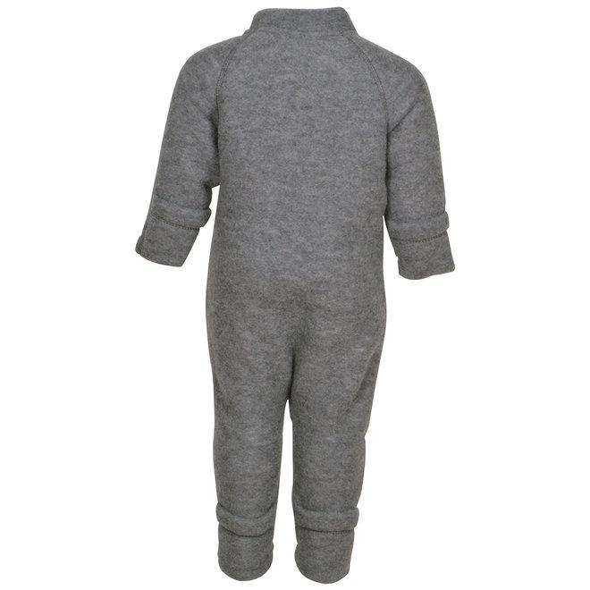 Wool jumpsuit | merino wool - Melange Grey