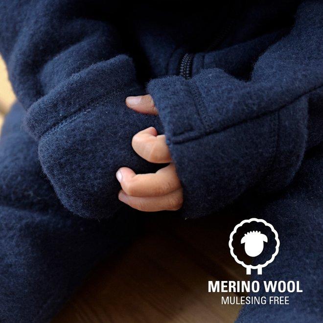 Wool jumpsuit kids | merino wool - dark blue