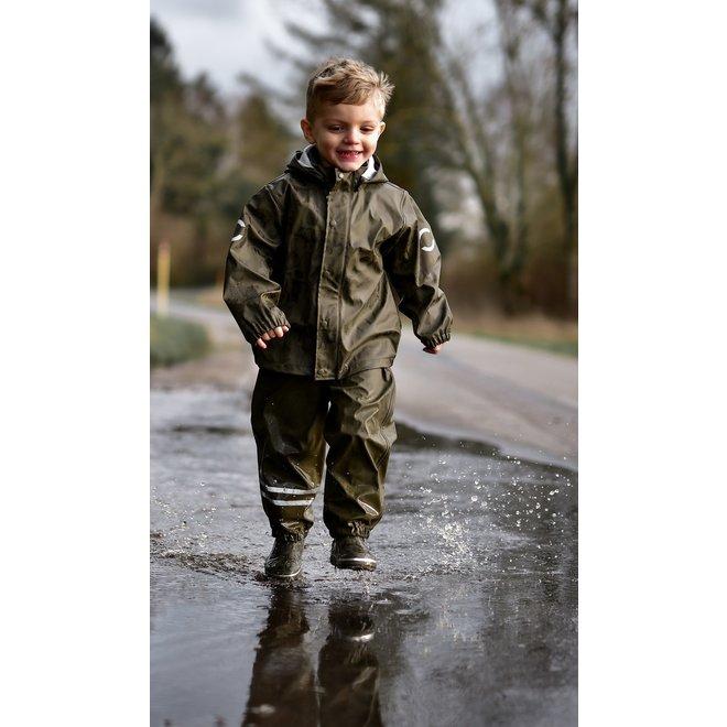 Fleece lined PU rain suit | Tarmac Forest