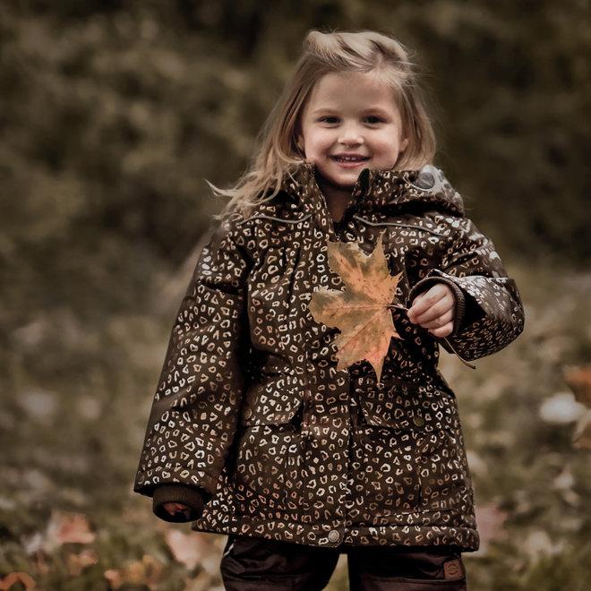 ♻️ Junior winter jacket | Chocolate Gold | 104-158