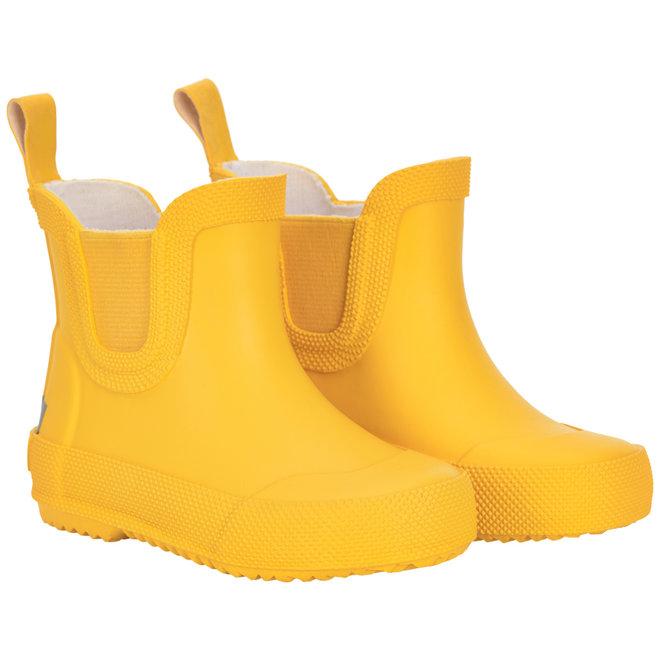 Korte rubberen regenlaarsjes  Geel   maat 19-26