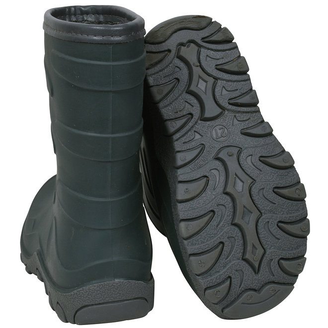 Thermo children's boots | rubber| wool lining | green