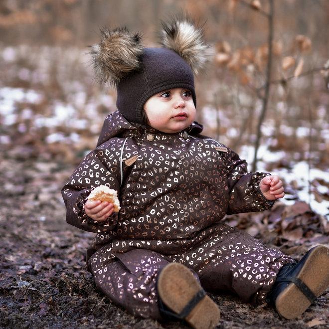 ♻️Baby regen- en ski-pak   Chocolate Gold
