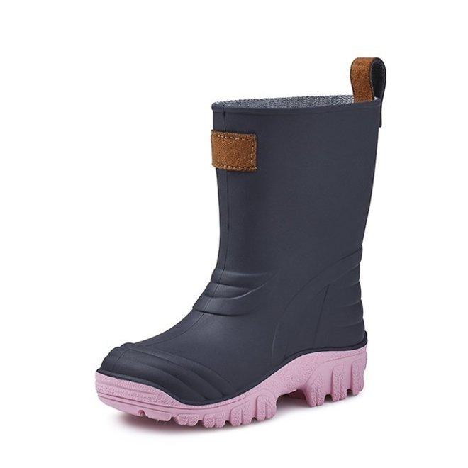 SEBS Rubber children's rain boots| blue/pink