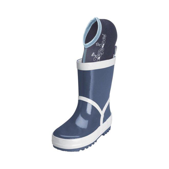 Short boot socks for children | dark blue/grey