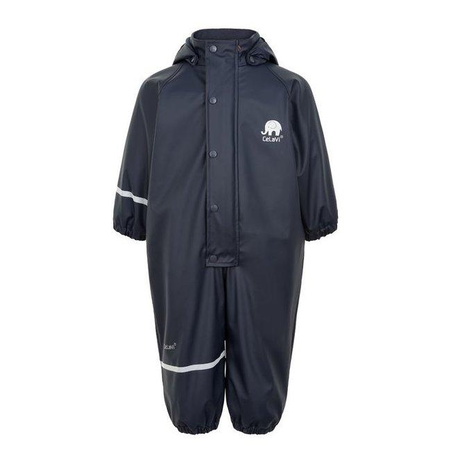♻️ Children's one-piece rain suit | fleece lining | navy| 70-110