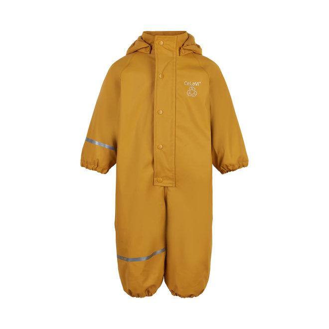 ♻️ Children's one-piece rain suit   fleece lining   Mineral Yellow   70-110