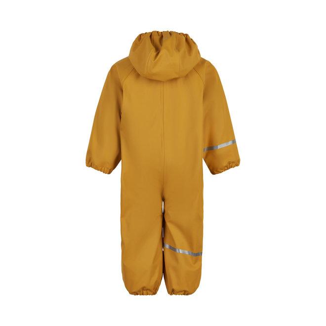 ♻️ Kinder regenpak uit één stuk   fleece voering   Mineral Yellow    70-110