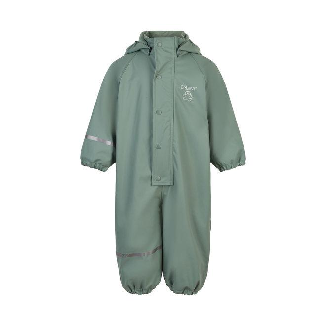 ♻️ Fleece lined rain coverall   Slate Grey