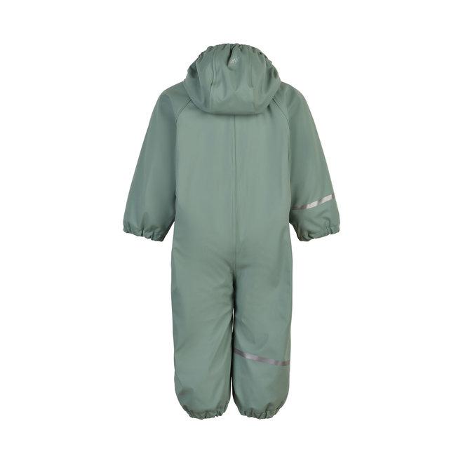 ♻️ Kinder regenpak uit één stuk   fleece voering   Slate Grey    70-110