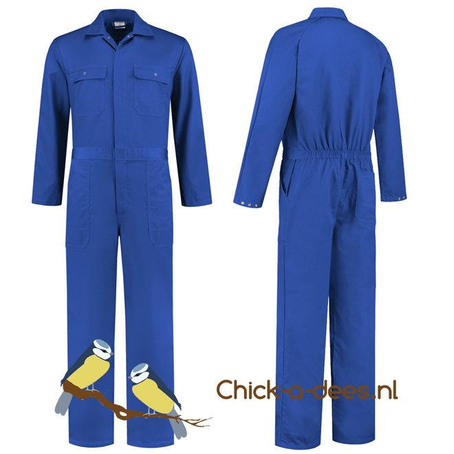 Korenblauwe overall voor dames en heren