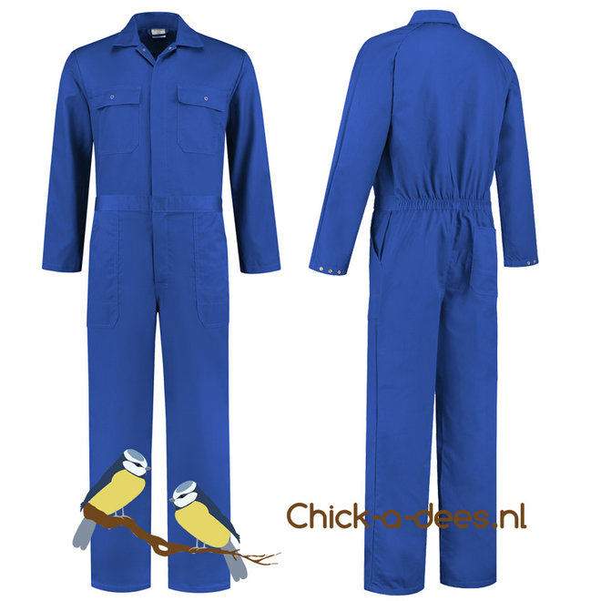 Royal blue overall for women and men