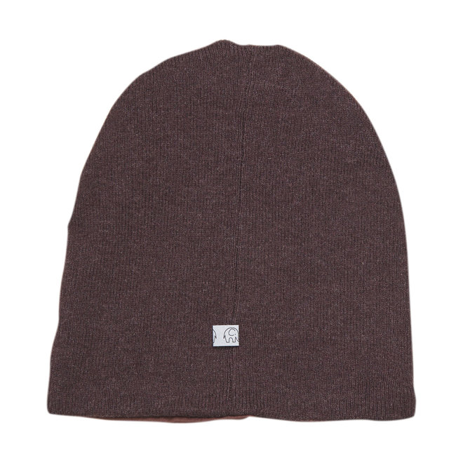Kids beanie   fudge   wool/cotton