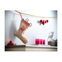 thumb-Bedrukte kerstsok in linnen, jute-look jute met hartje-5