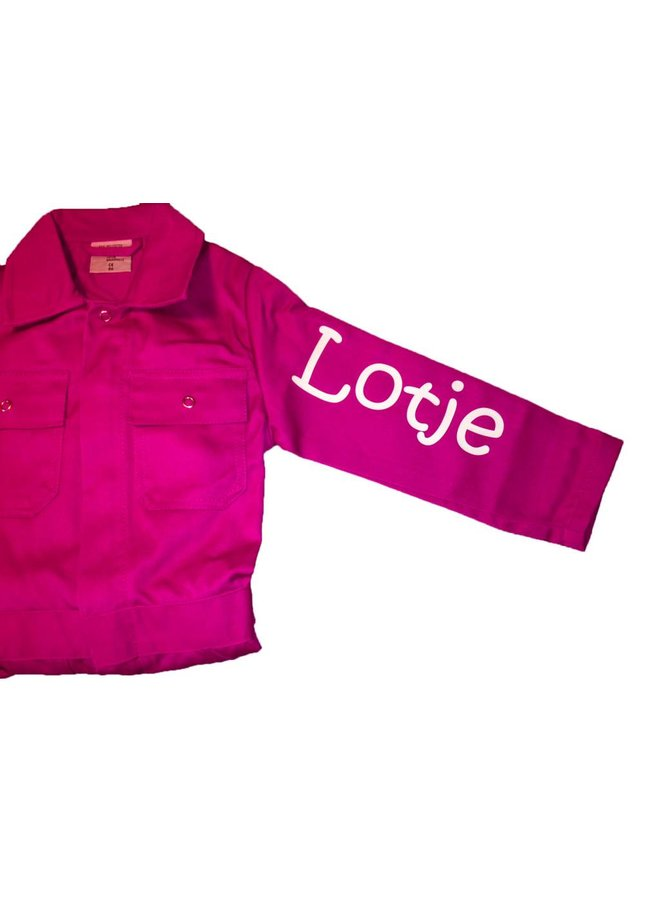 Extra print for text or name on coverall