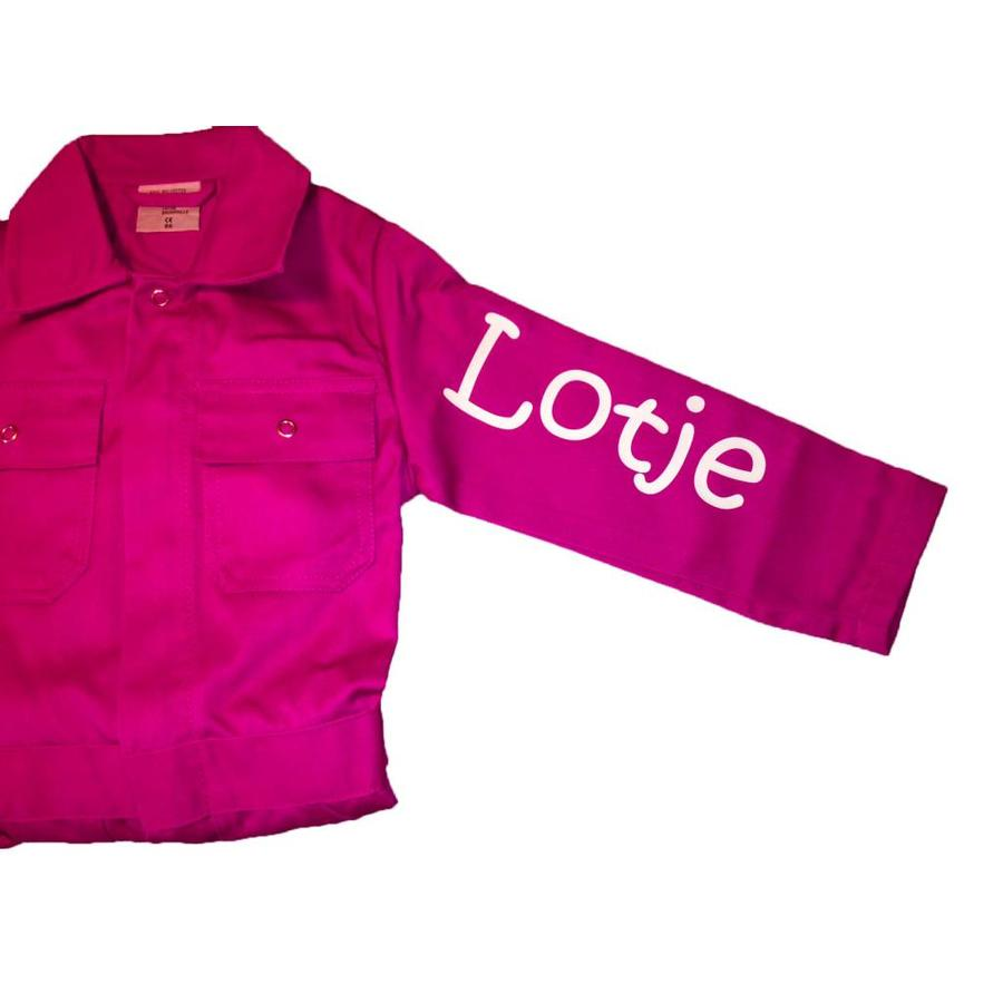 Extra print for text or name on coverall-2