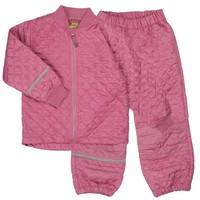 thumb-Thermo set broek en jack gewatteerd oud roze | 80-128-3
