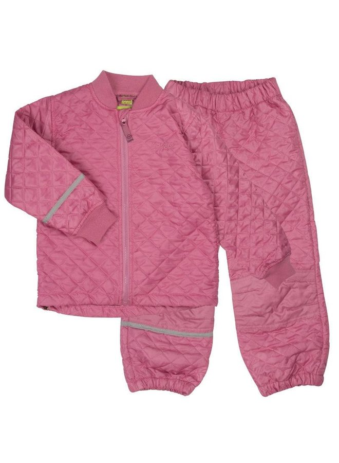 Padded thermosuit, antique pink