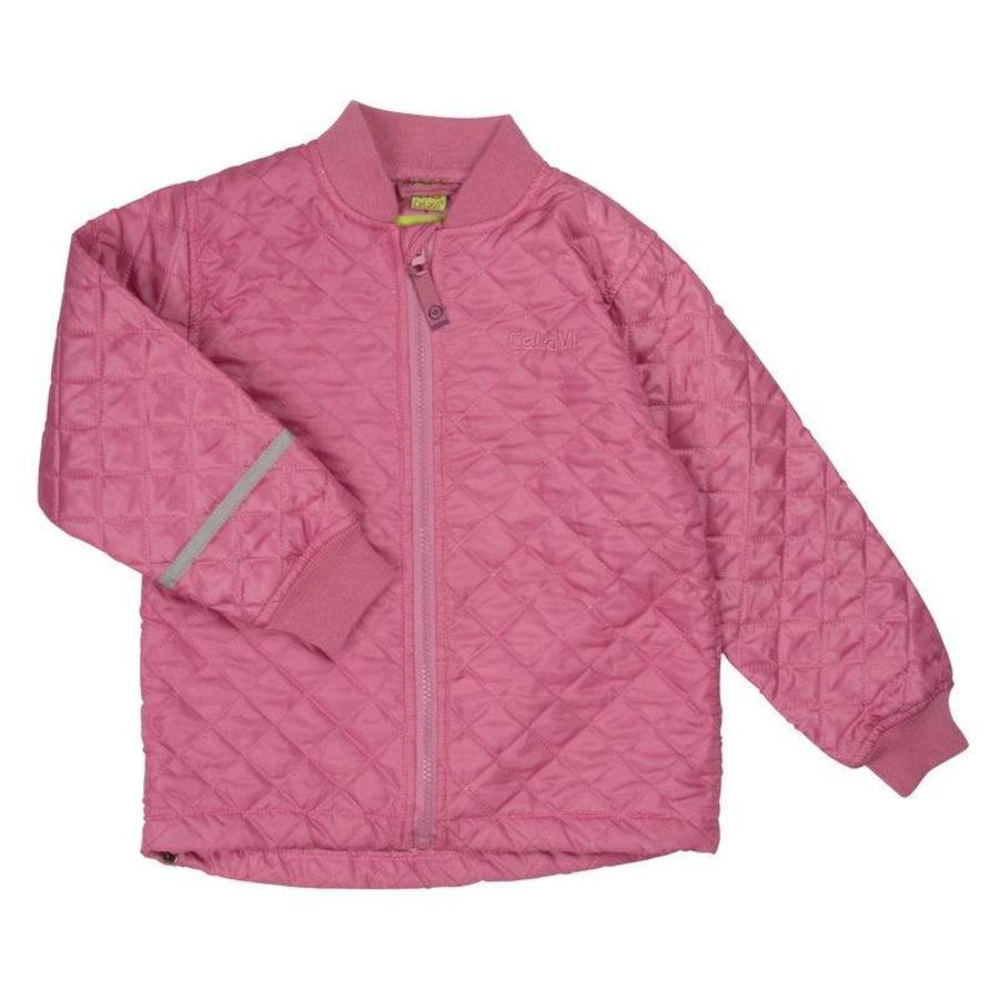 Thermo set broek en jack gewatteerd oud roze | 80-128-4