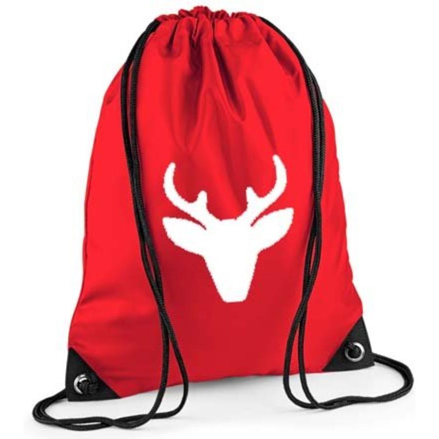 Red backpack, gym bag with reindeer-1