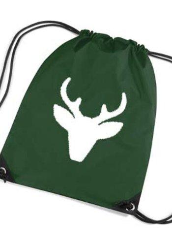 Red backpack, gym bag with reindeer - Copy