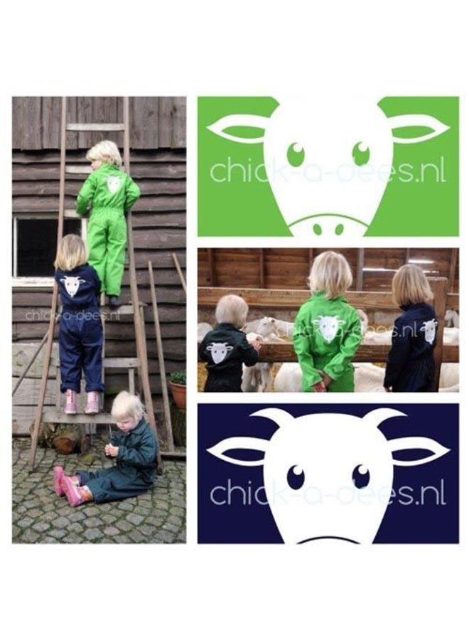 Geit print voor kinderoverall