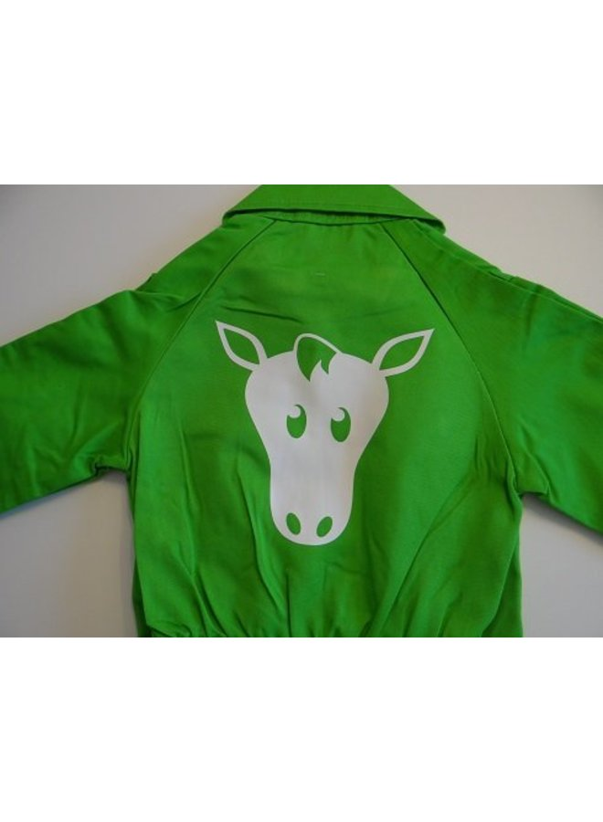 bedrukking paard voor overall