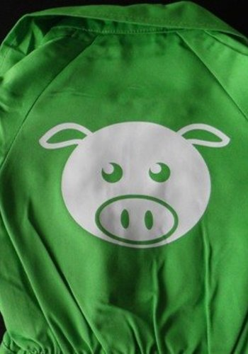 Customise your coverall with the picture of a pig