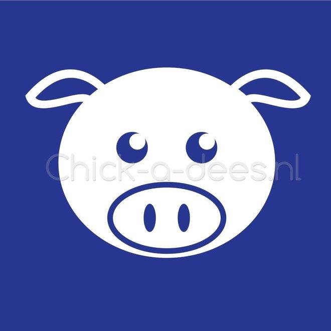 Bedrukking varken, big voor overall