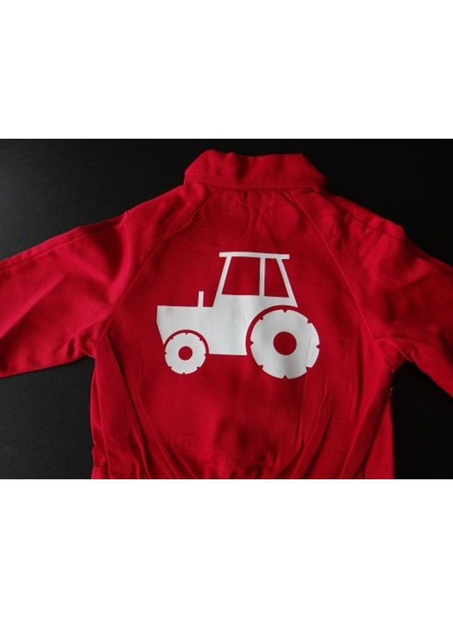Overall with tractor, tractor