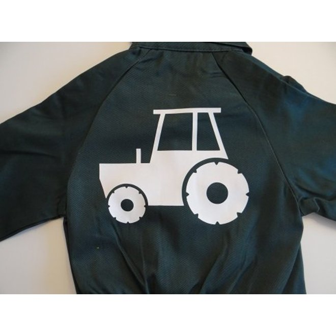 Coverall with tractor, tractor