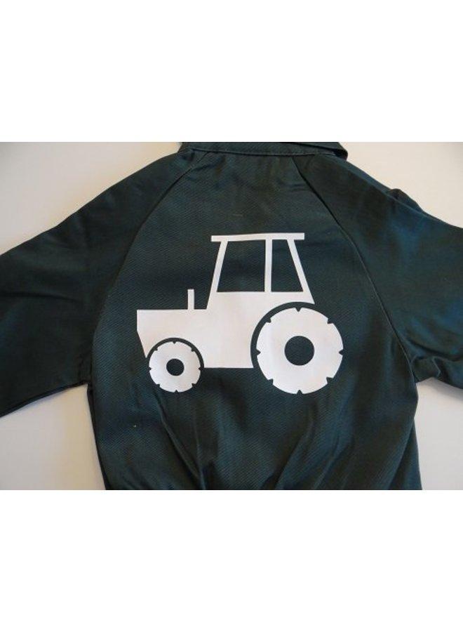 Overall met trekker, tractor