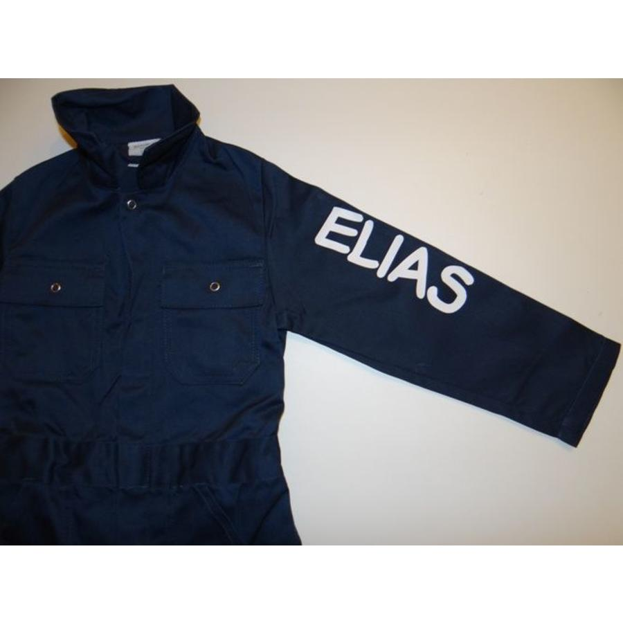 Extra print for text or name on coverall-7