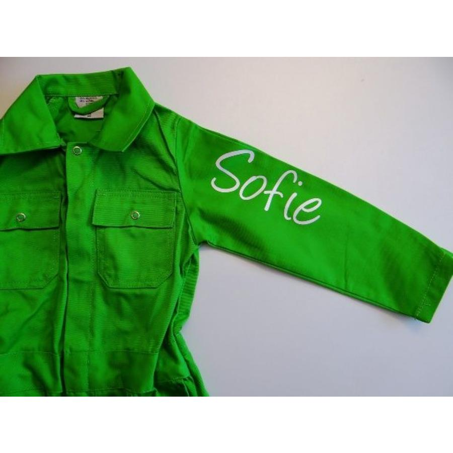 Extra print for text or name on coverall-8