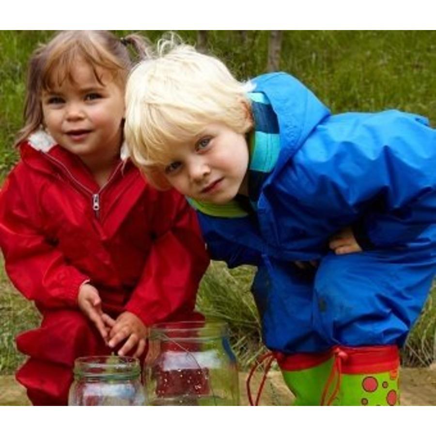 Waterproof coveralls, rain boiler suit - red-4