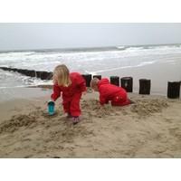 thumb-Waterproof coveralls, rain boiler suit - red-5