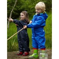 thumb-Waterproof coveralls, rain boiler suit - blue-4