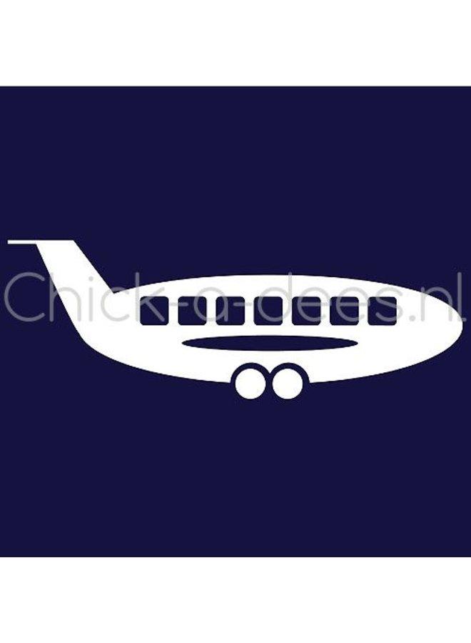 Vliegtuig print voor overall