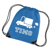 thumb-Gym bag with name and truck-1
