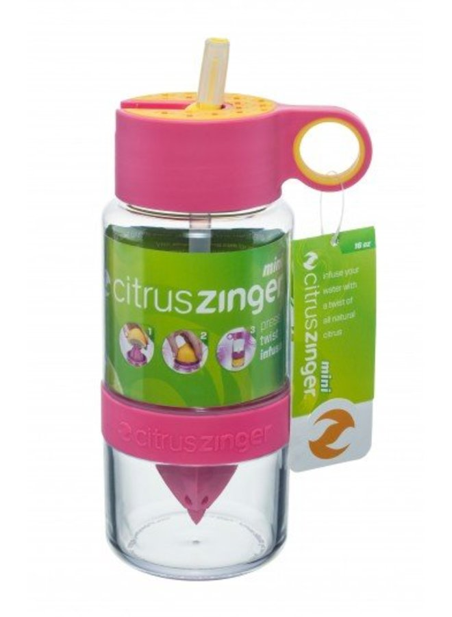 Roze Citrus Zinger mini waterfles
