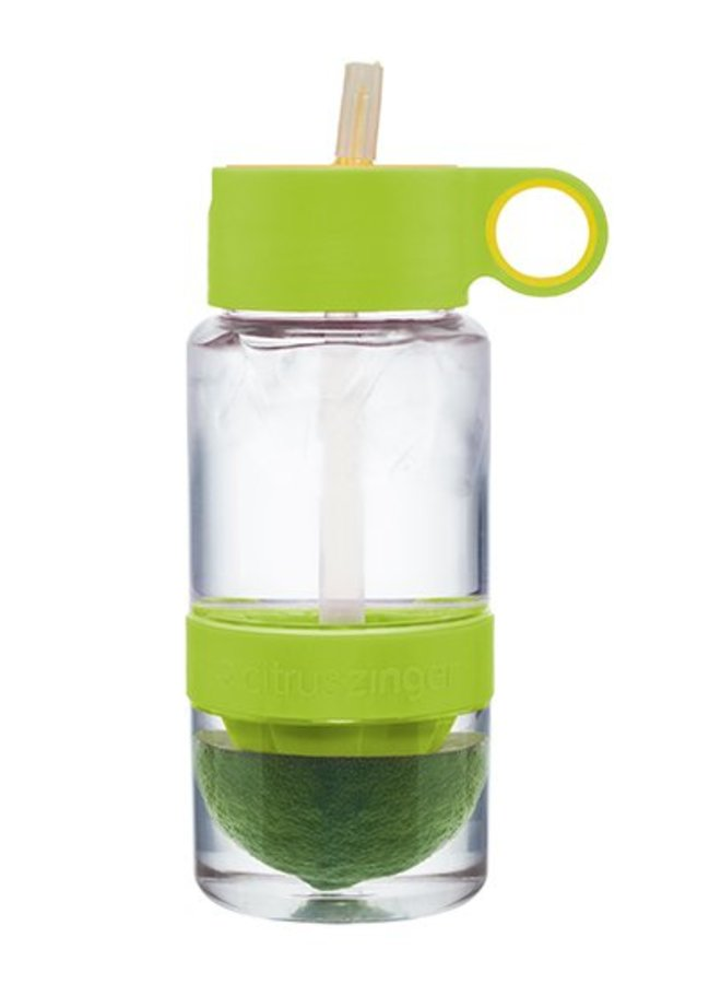 Lime groene Citrus Zinger mini waterfles