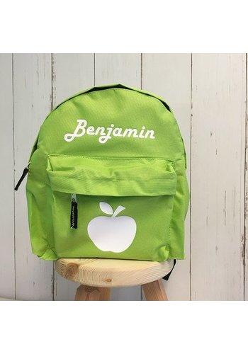 Gepersonaliseerde rugzak met appel