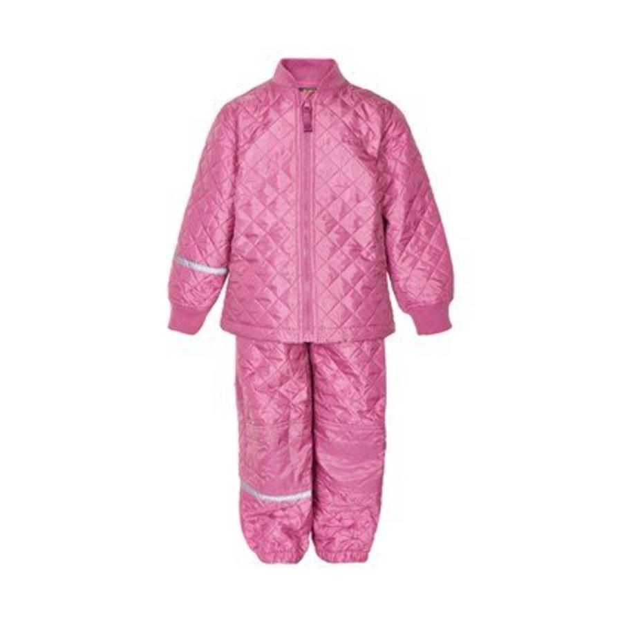 Thermoset, pants and jacket, quilted, antique pink-1