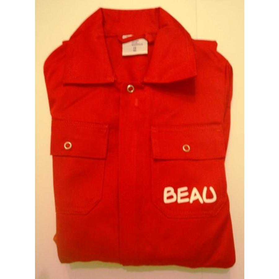 Rode overall met naam of tekst bedrukking-4