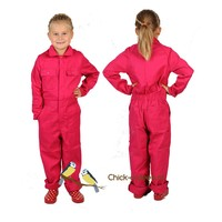 thumb-Pink fuchsia overall with name or text printing-3
