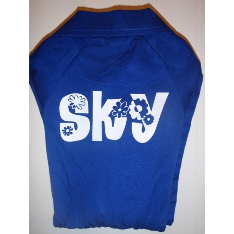 Blue overall with name or text printing-3